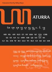 Javanese Font: Aturra