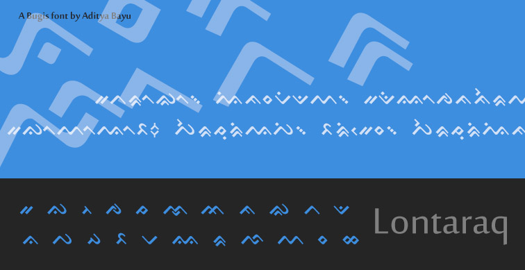Lontara font: Lontaraq by Alteaven