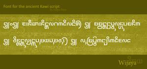Ancient font: Wijaya