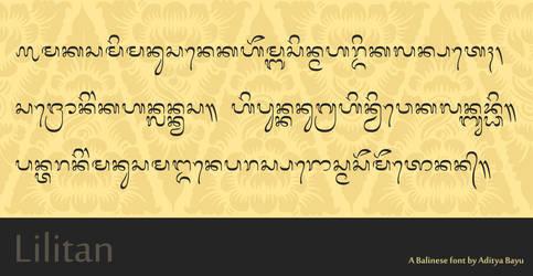 Balinese font: Lilitan