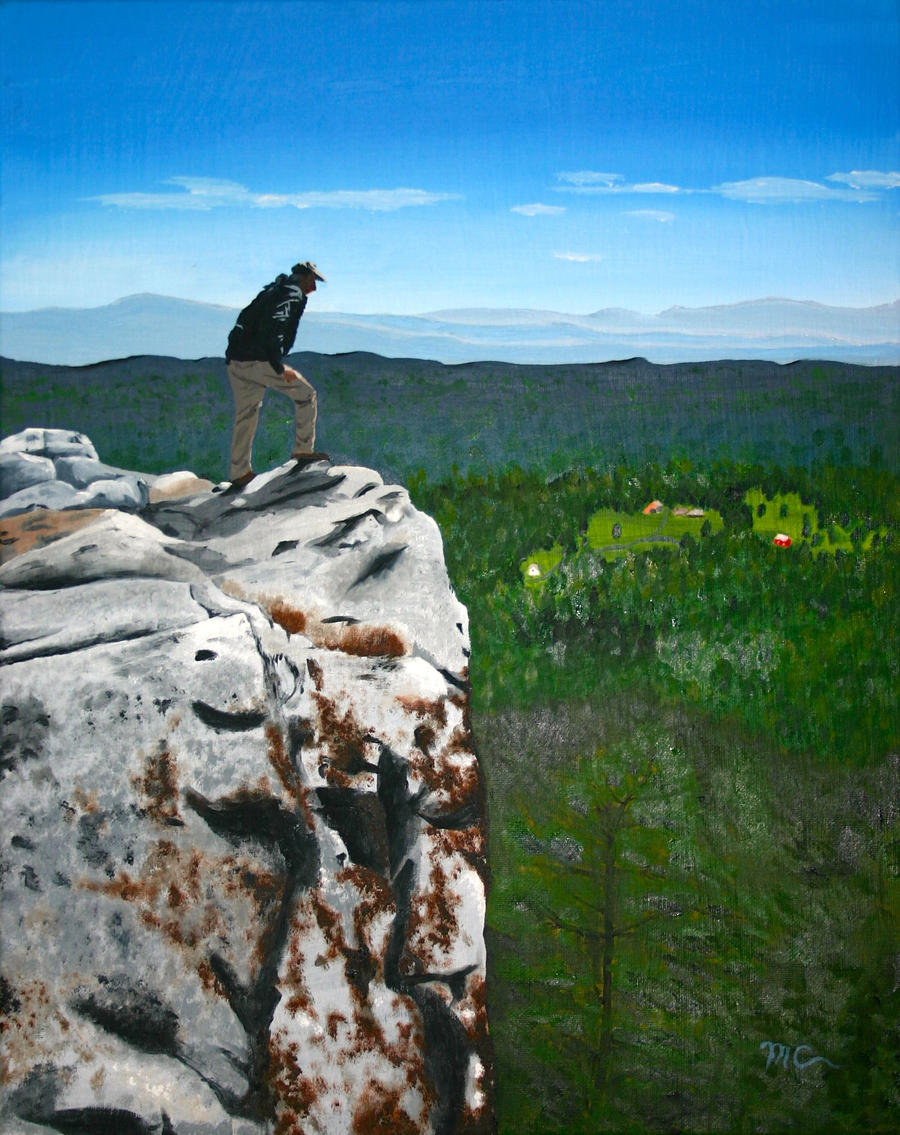 Earl on a Cliff by macourtney