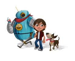 Cartoon Characters by kreativeblade
