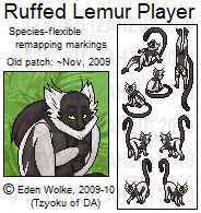Furc- Port+Patch- Ruffed Lemur by Zahzumafoo