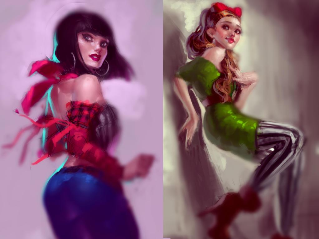 Jessie and Ari by SenRyuji