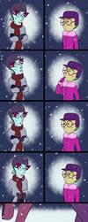 Christmas Kiss Comic by JWolf-97
