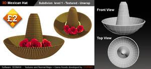 3d Mexican Hat-sale