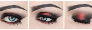 Black and red halo eye