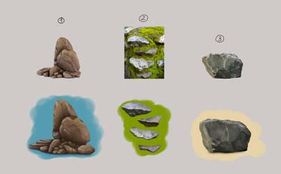 Rock study by xAsOnex