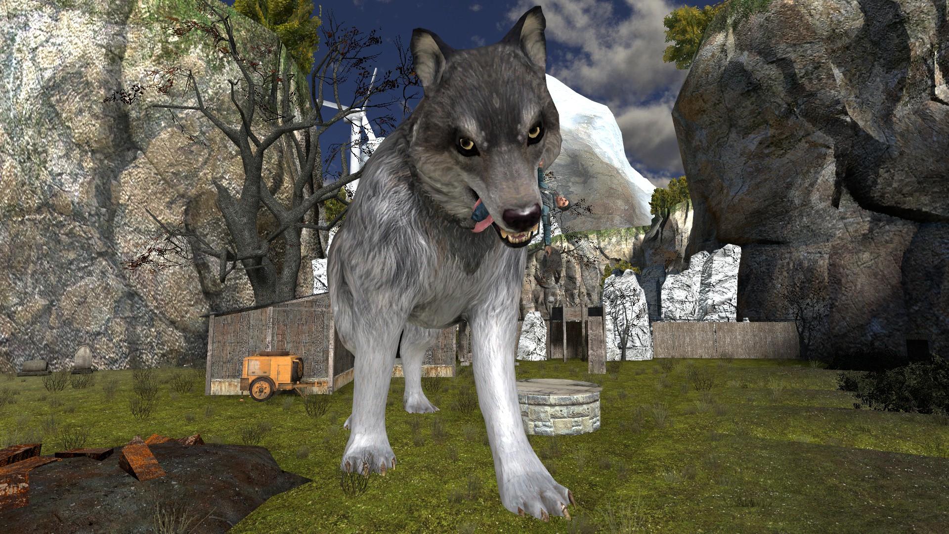 Игра с картинкой волка