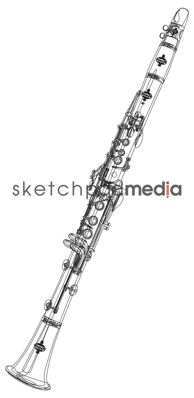 Clarinet Vector Outine by sketchpadmediaDA on DeviantArt