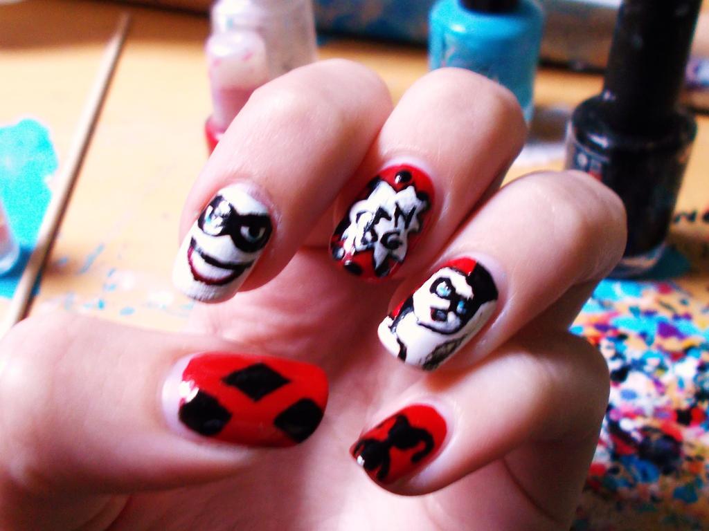 Harley Quinn Nail Art By Dia003 On Deviantart