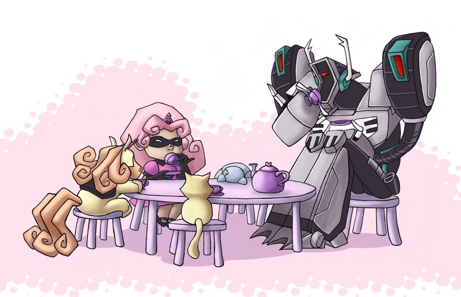 [Pro Art et Fan Art] Artistes à découvrir: Séries Animé Transformers, Films Transformers et non TF - Page 5 Time_for_tea_by_downbox-d4dhbid