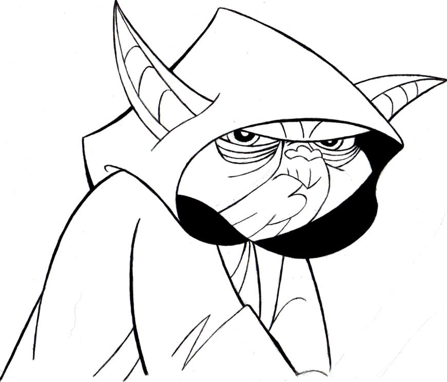 Line Art Yoda : Star wars clone yoda by abydell on deviantart