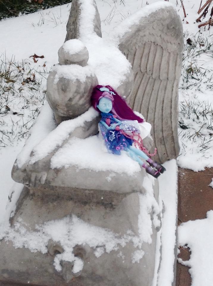 Sitting by the Snowy Angel by Victoria-Firewriath