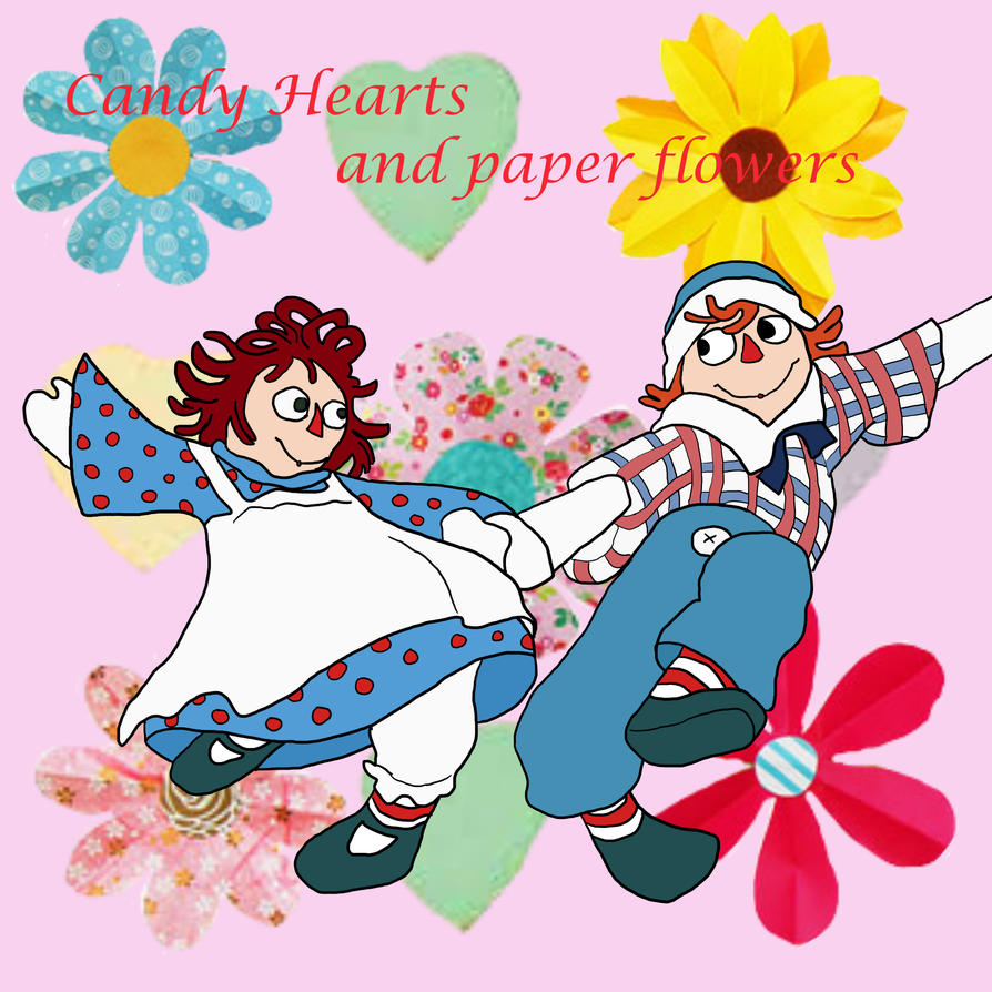 Candy Hearts And Paper Flowers By Victoria Firewriath