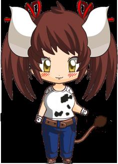 Sukimi the cow-girl (chibi)
