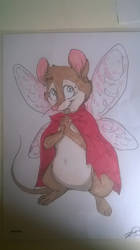 Mrs Brisby as a fairy mouse Drawing number 1 by NIMH-P999