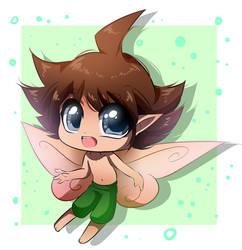 Commission   Yuki Mizusawa as an Elf (RedAceStarz)