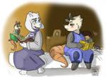Poppy and Toriel storytime