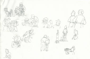 Tintin-sketches by Woodpeckery