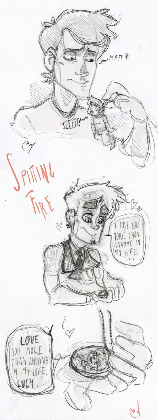 'Spitting Fire' fan art by Woodpeckery