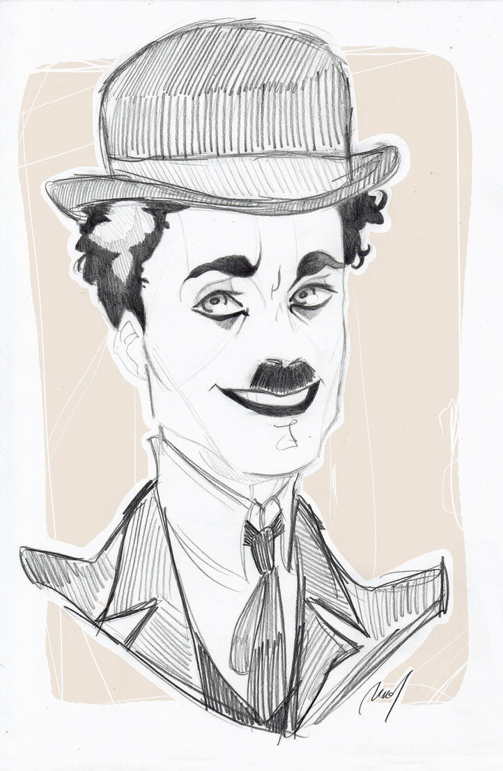 Charlie Chaplin by Woodpeckery