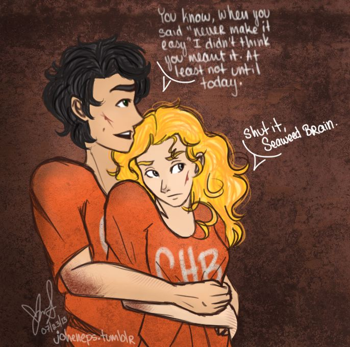 Percy And Annabeth First Kiss And annabeth's first kiss Percy And Annabeth Fall Into Tartarus