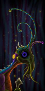 Old alien creature