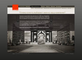 Sameta web page design by horlet