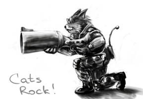 Cats Rock by horlet