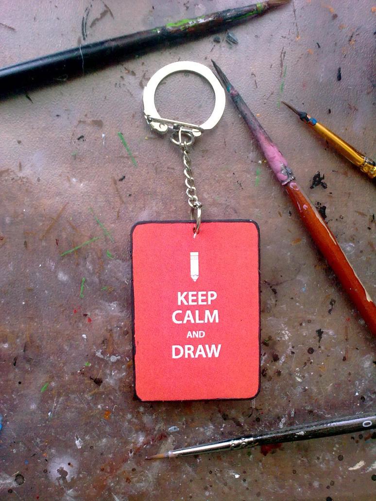 Keychain for an artist by Eibhlin-san