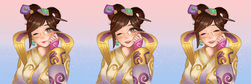 Lunar New Year Chang'e mei by claudiantly