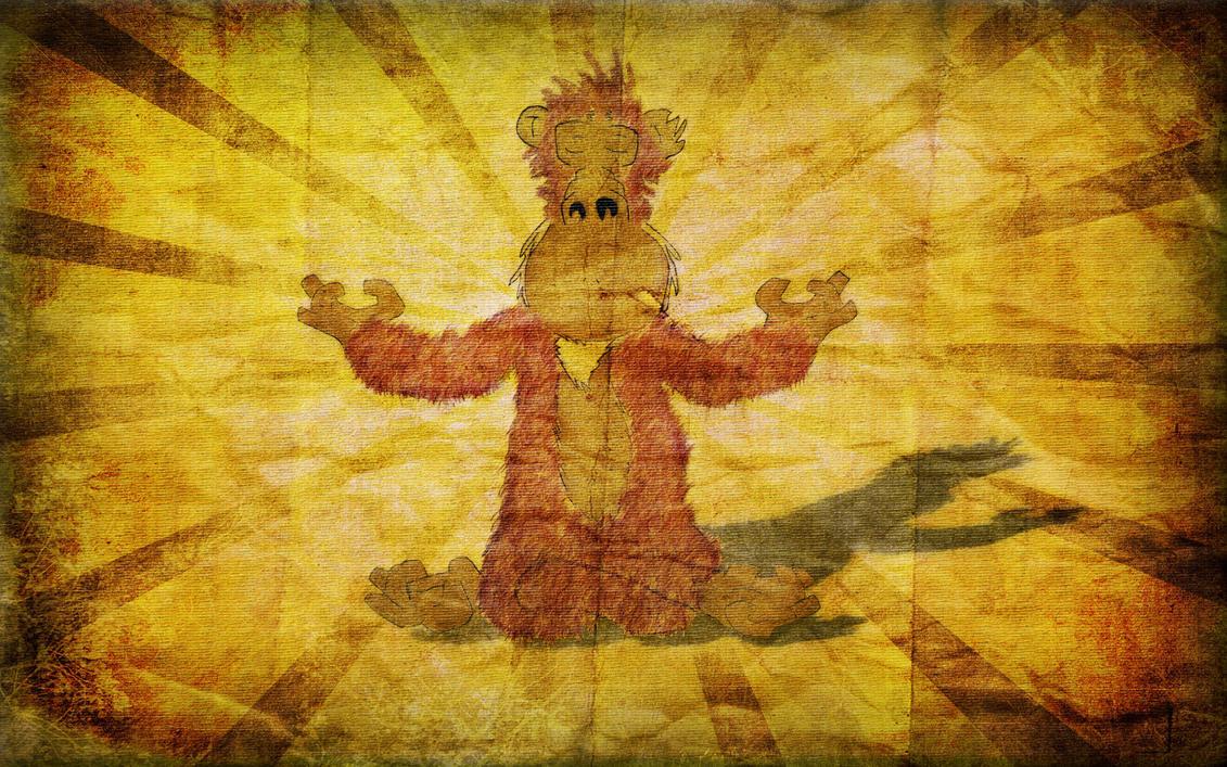 Enlightone: Enlightened Monkey Wallpaper By Flamingphoneix On DeviantArt
