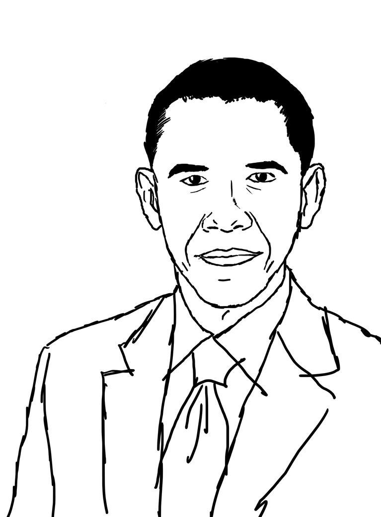 Barack obama by hanncommander on deviantart for Barack obama coloring page