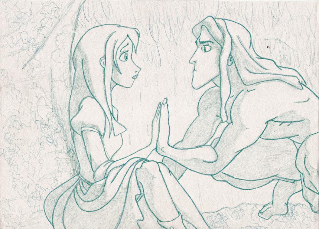 Uncategorized Tarzan Drawing tarzan and jane by theodosiagrace on deviantart theodosiagrace