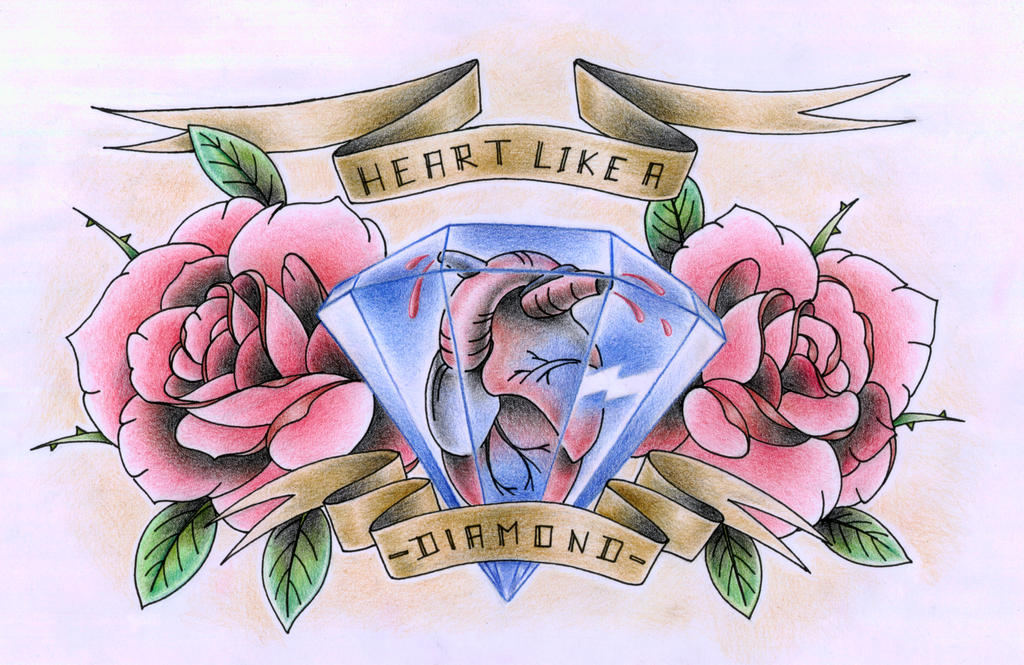 Heart like a diamond by xxhellhoundxx on deviantart for Diamond heart tattoo