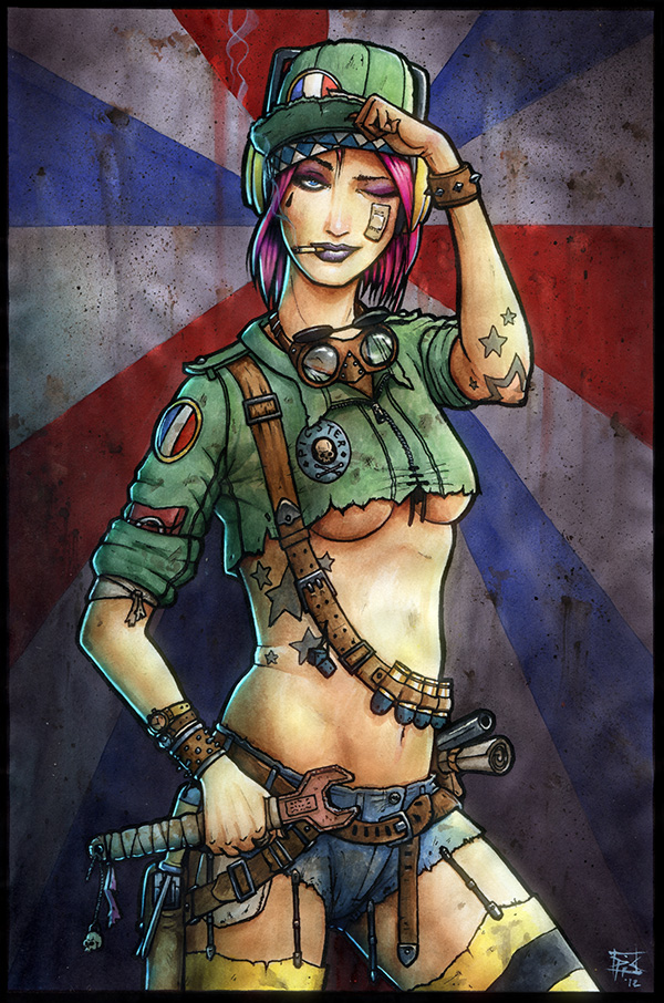 Tank Girl in Paris by RaffaelePicca