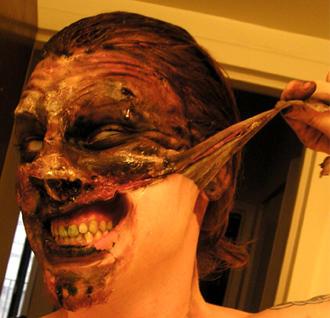 Maquillaje espantoso