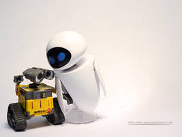 Wall-E And Eve - WP by kalos-eidos-skopein