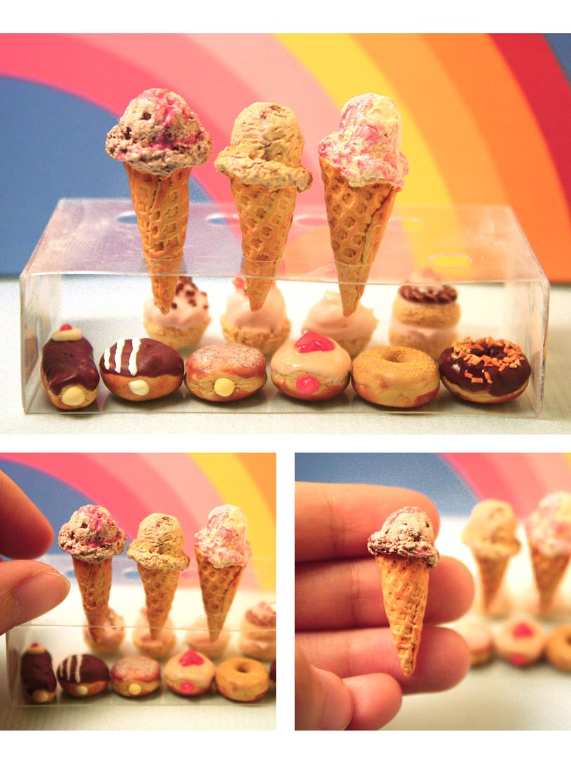 Ice Cream And Doughnuts by kalos-eidos-skopein