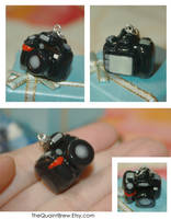 Nikon D90 Necklace Charm by kalos-eidos-skopein