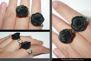 Black Rose Rings by kalos-eidos-skopein
