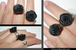 Black Rose Rings
