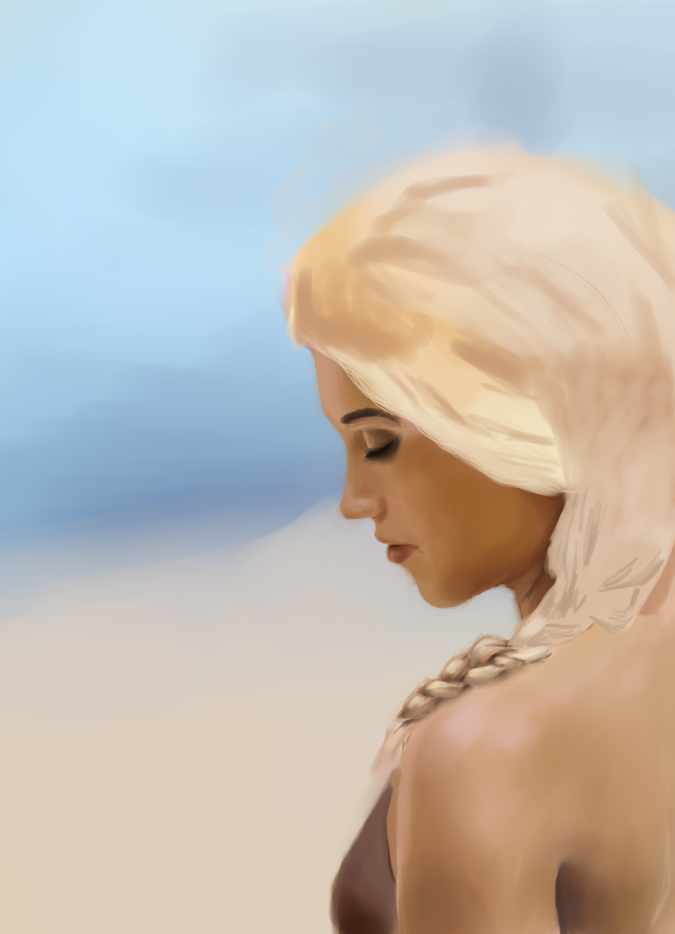 WIP: Dany in the desert by Ombreuse