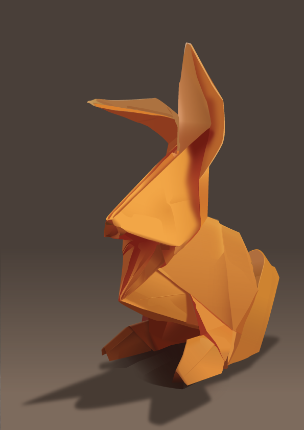 Origami Bunny by Ombreuse