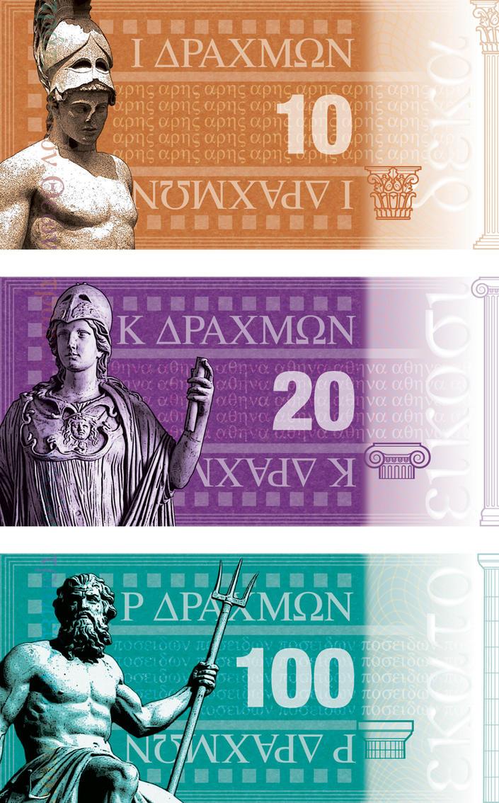 Banknote Series on Greek Gods by CoreyxCMYK