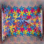 Escher like Dragons