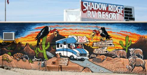 Ajo Shadow Ridge Mural by Hop41