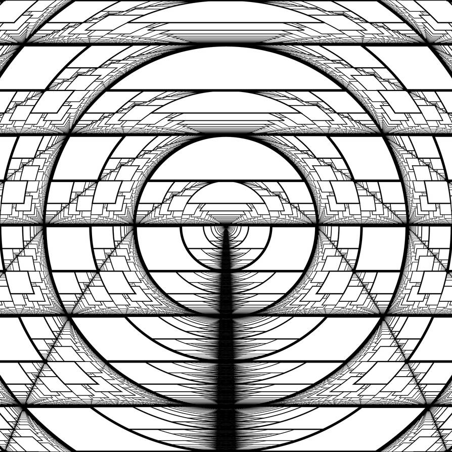 Harmonic Perspective Moire Parabolas by Hop41