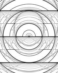 Harmonic Perspective Moire Ellipses by Hop41